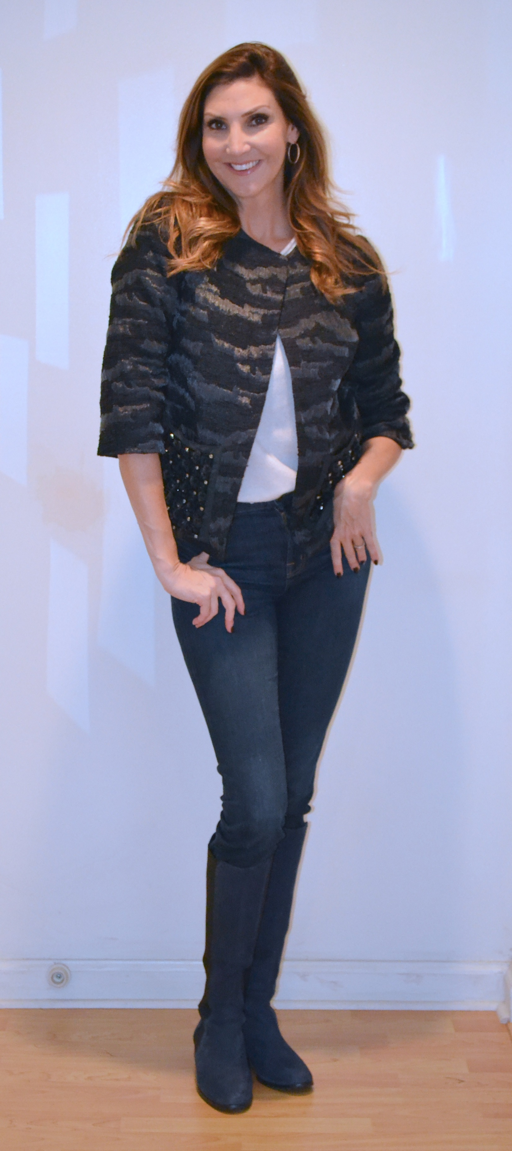 Heather McDonald in LOGO by Lori Goldstein Jacket for QVC