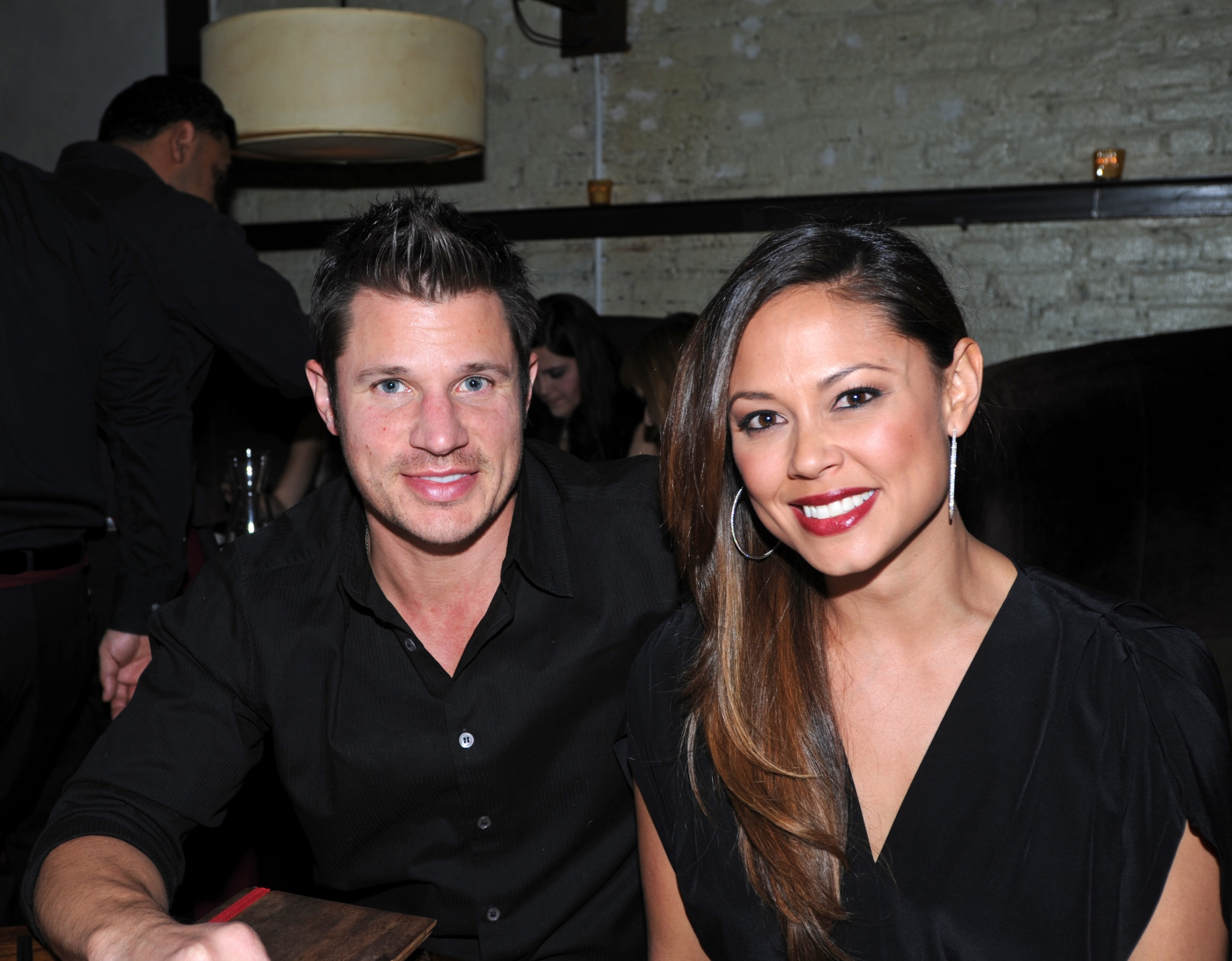 Nick and Vanessa Lachey at Stanton Social