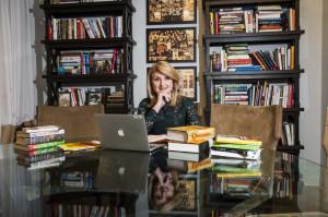 Arianna Huffington Office Portrait