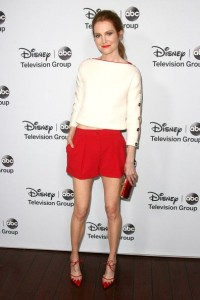 Darby Stanchfield at the Disney-ABC Television Group 2014 Winter Press Tour Party, Pasadena