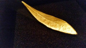 Gold Plated Olive Leaf from Iliada and Billy Zane (website: synapeiro.gr)