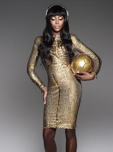 Naomi Campbell Sporting 24K Gold Beats Pro Headphones