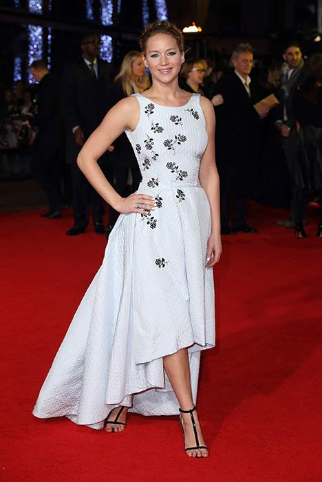 ccbc45498 Jennifer Lawrence In Dior at The Hunger Games  Mockingjay Part One ...