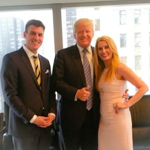 BELLA NYC MAGAZINE's Publisher, Daniel Hall; Editor in Chief, Courtenay Hall and Donal Trump