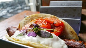 Death Avenue Restaurant- Souvlaki Sausage Tacos