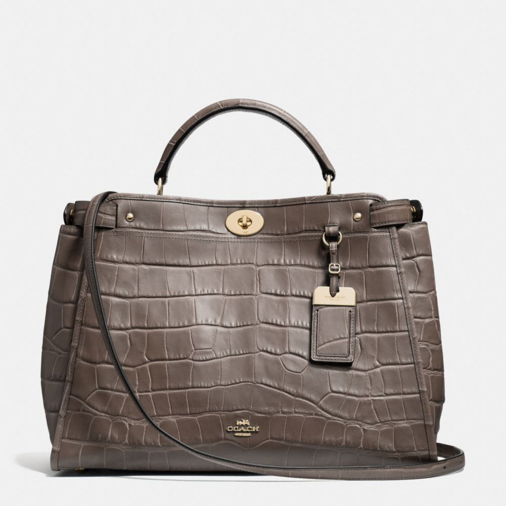 By Day Coach Embossed Croc satchel
