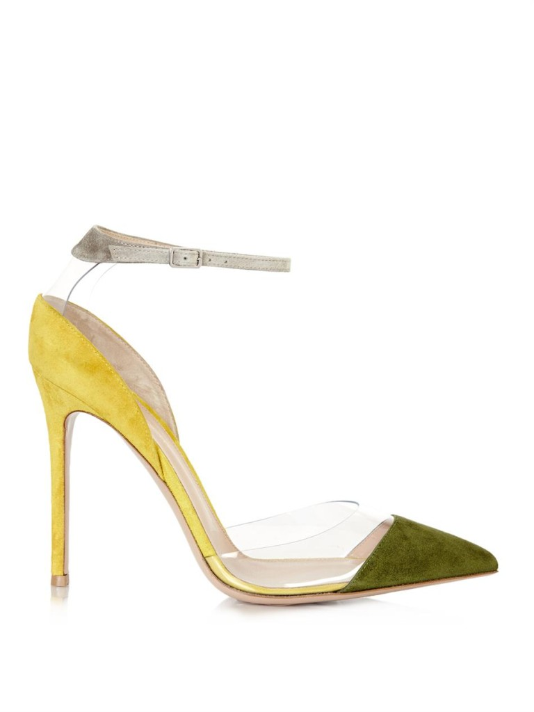 By Night Gianvito rossi colour-block suede and Pvc Pumps