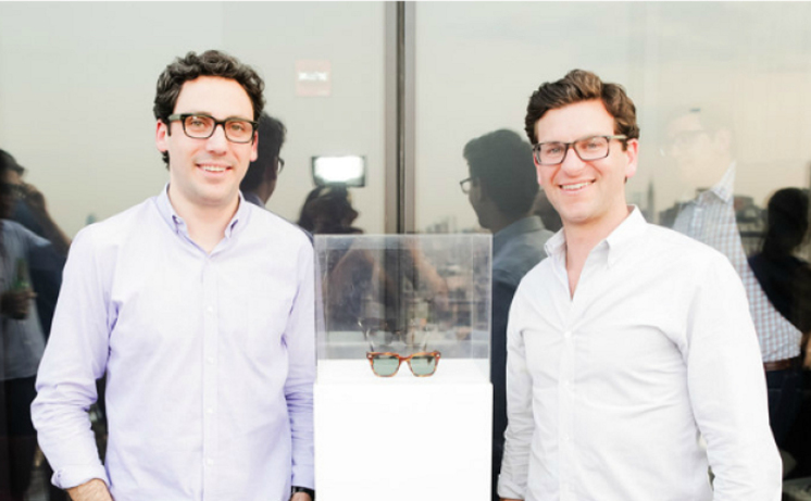 Neil Blumenthal (left) and David Gilboa (right) two of the four founders