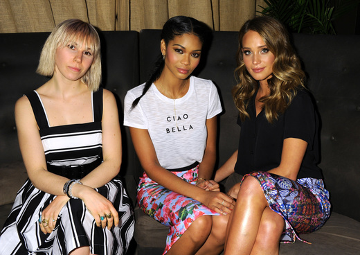 Zosia Mamet, Chanel Iman and Hannah Davis at the launch of Kohl's Milly for DesigNation collection