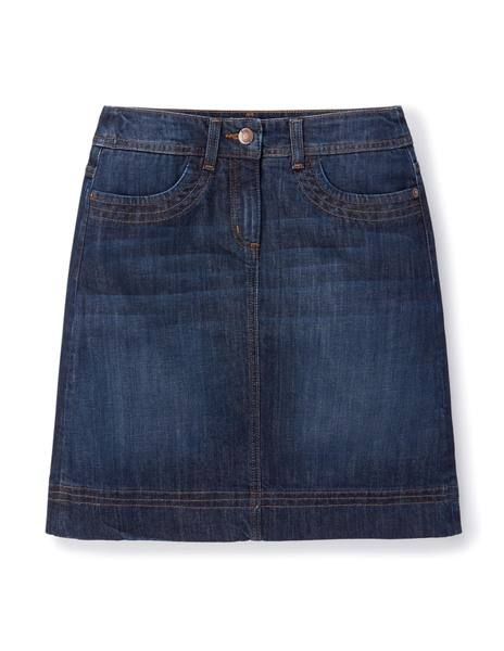 10 Essentials_Chic Denim Aline Skirt
