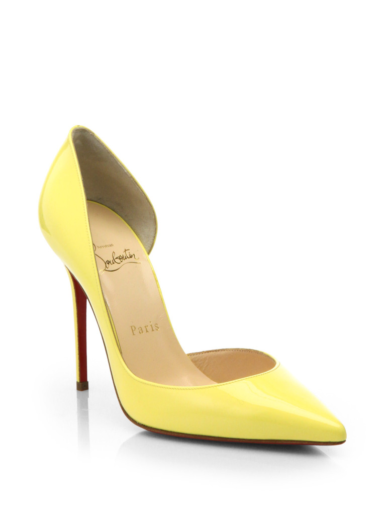 mellow yellow christian louboutin pumps