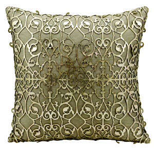 Gold laser cut pillow
