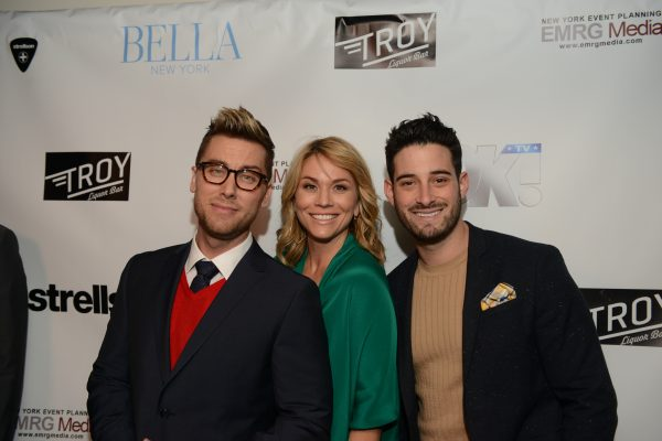 BELLA New York's Hollywood Cover Launch Party: Lance Bass:, Megan Colarossi and Michael Turchin