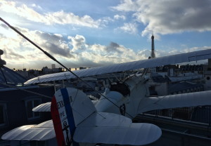 View from aviation themed L'Oiseau Blanc rooftop restaurant - Peninsula