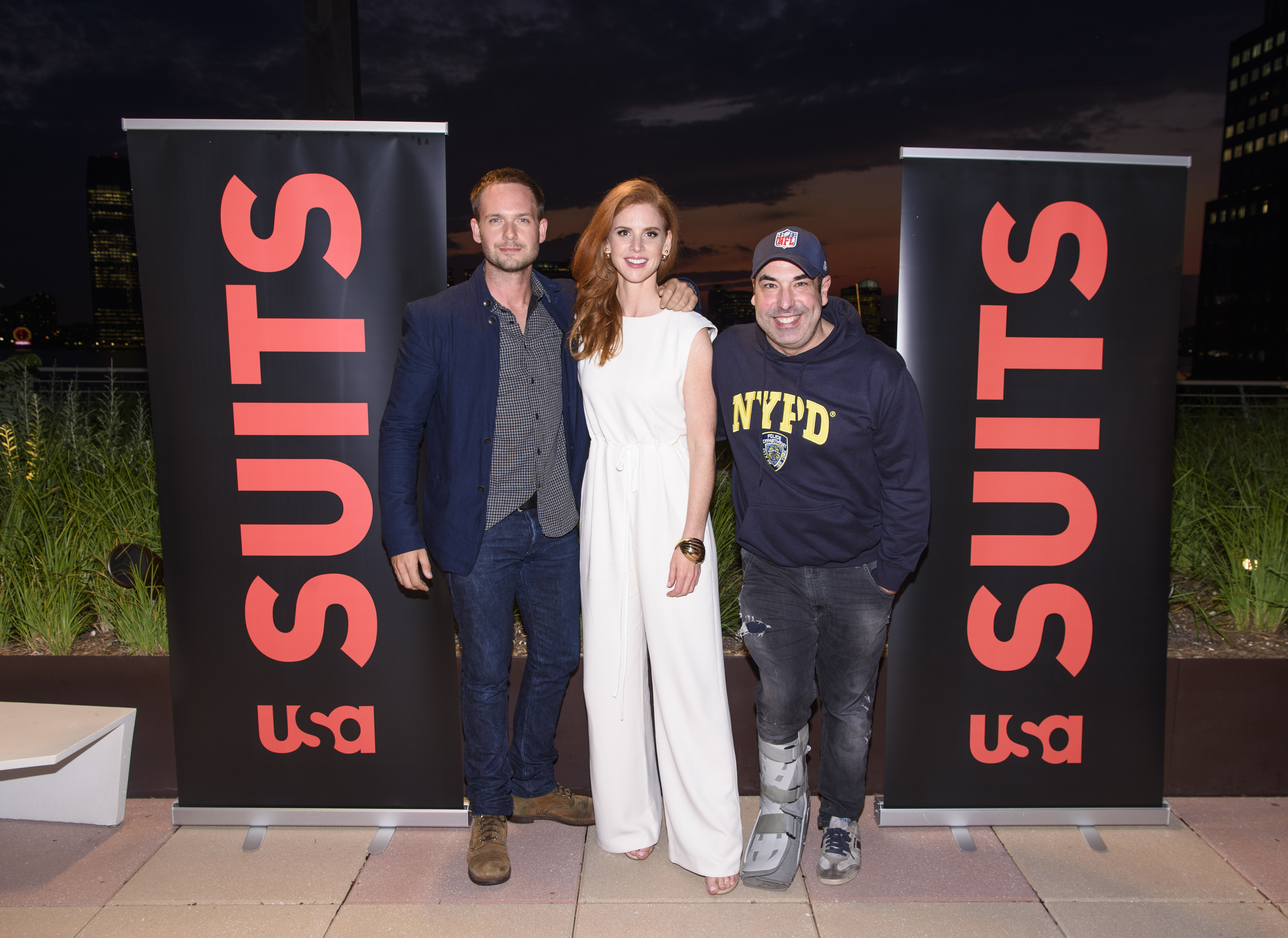 SUITS -- Suits/Entertainment Weekly Season Six Premiere Screening -- Pictured: (l-r) -- (Photo by: Dave Kotinsky/USA Network)