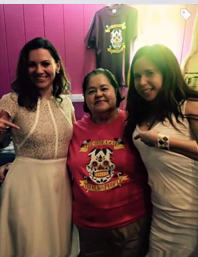BELLA Food Editor Amanda Mactas and Mind + Body Editor Sari Rosenberg with owner Freida