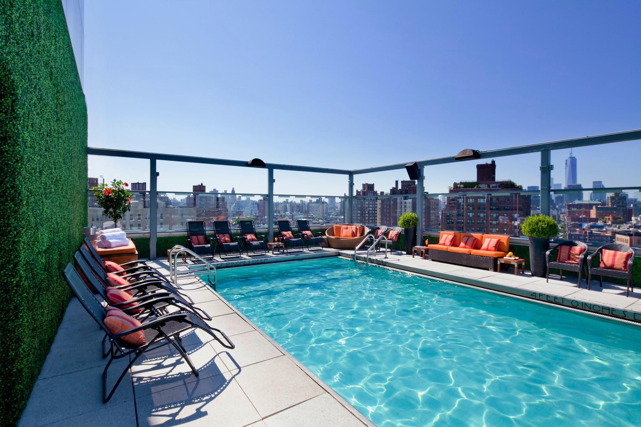 Gansevoort Meatpacking - Rooftop Pool Daytime